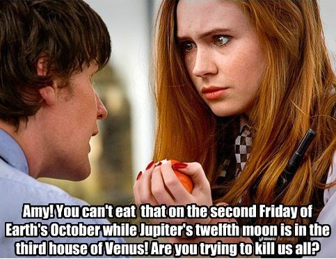 diet,timelord,karen gillan,the doctor,Matt Smith,doctor who,amy pond,knowledge,apple