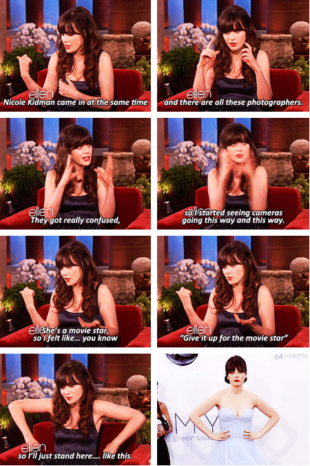 Zooey Deschanel on Ellen