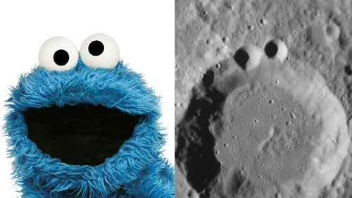 NASA Thinks These Craters Look Like Cookie Monster of the Day