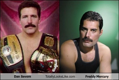 Dan Severn Totally Looks Like Freddie Mercury