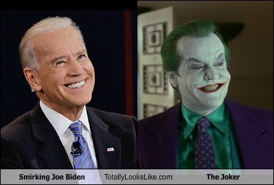 Smirking Joe Biden Totally Looks Like Jack Nicholson (The Joker)