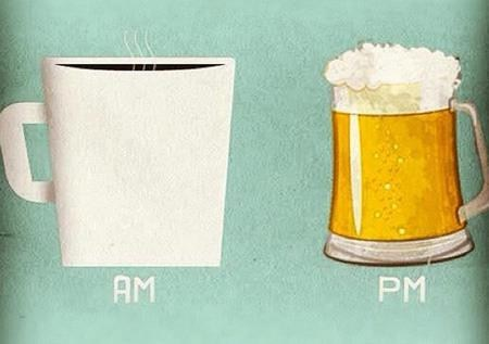 pm,am,coffee,beer,time of day