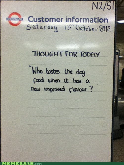 Meanwhile at TFL...