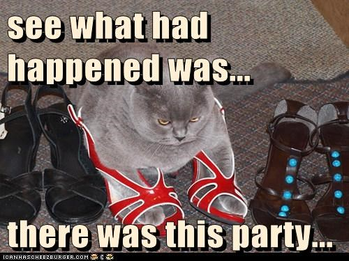 see what had  happened was...  there was this party...