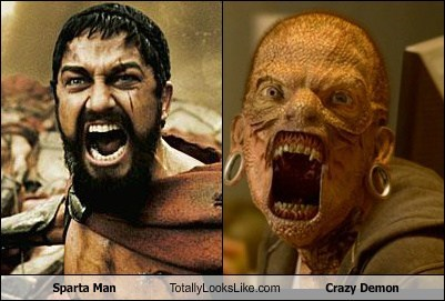 Sparta Man Totally Looks Like Crazy Demon