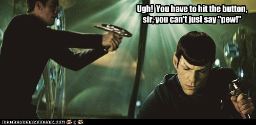 Do You Know How Hard it Is to Aggravate a Vulcan?