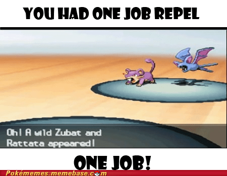 repel,castelia sewers,you had one job