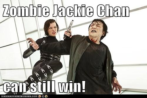 Zombie Jackie Chan  can still win!