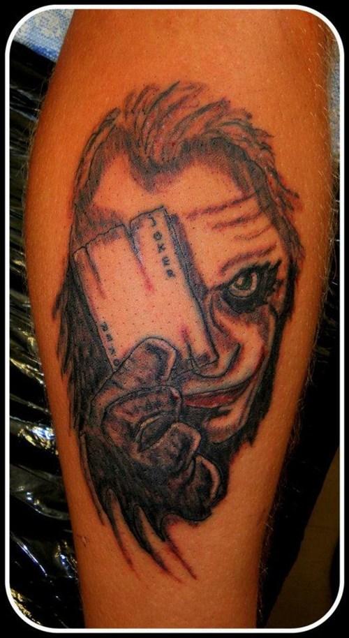 the joker,arm tattoos