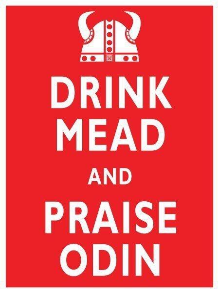 drink mean,praise odin,keep calm,vikings