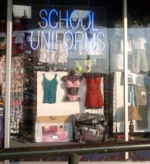 school uniforms,lingerie