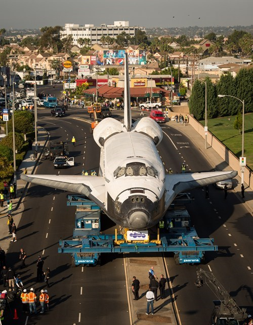 The Shuttle Endeavor Takes a Trip to LA