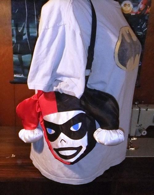 purse,bag,Harley Quinn,face,head