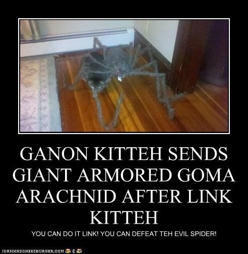 GANON KITTEH SENDS GIANT ARMORED GOMA ARACHNID AFTER LINK KITTEH