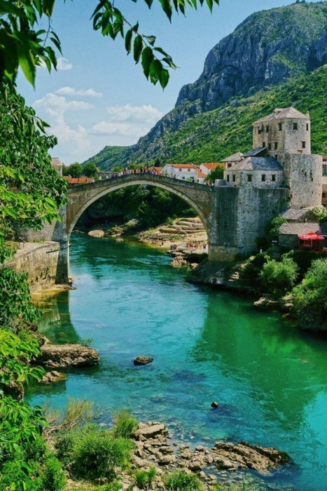 Over the River In Mostar, Bosnia and Herzegovina