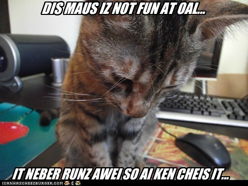 DIS MAUS IZ NOT FUN AT OAL...
