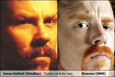 James Hetfield (Metallica) Totally Looks Like Sheamus (WWE)