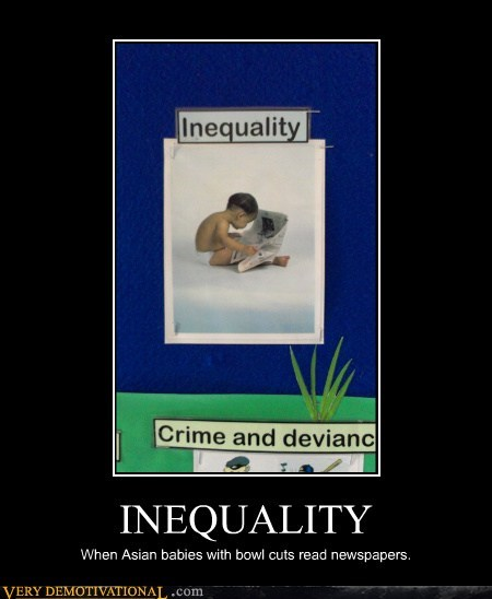 inequality,news papers,kids,bowl cuts
