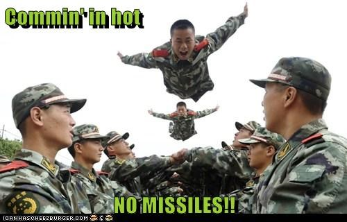 Commin' in hot  NO MISSILES!!