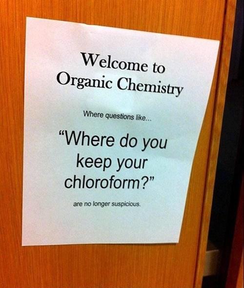 organic chemistry,Chemistry,chloroform,suspicious