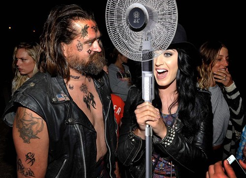 Katy Perry With a Fan