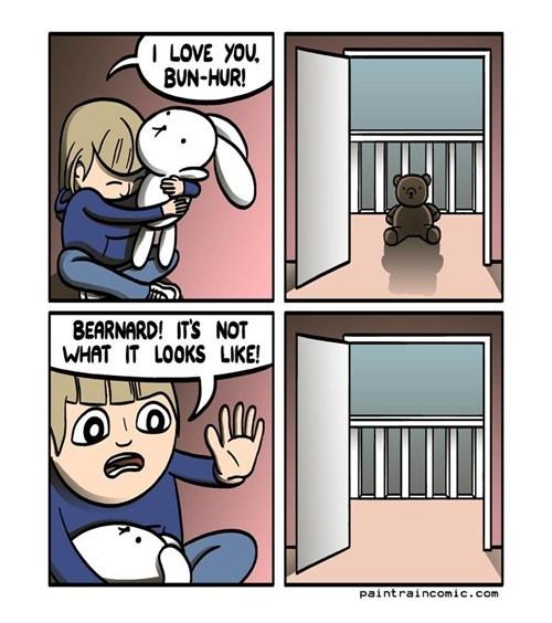 comic,stuffed animals,teddy bear