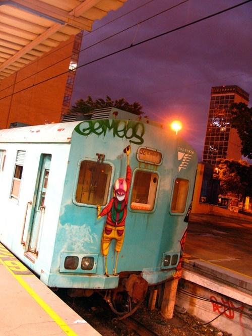 hacked irl,Street Art,train,public transportation