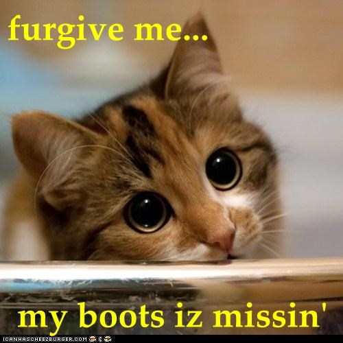 furgive me...  my boots iz missin'