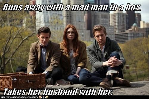 rory williams,karen gillan,the doctor,good girl,Matt Smith,husband,doctor who,meme,amy pond,arthur darvill