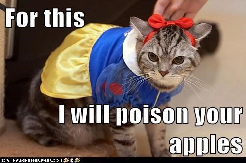 For this  I will poison your apples