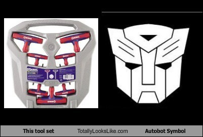 This Tool Set looks like The Autobot Symbol