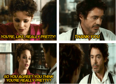 funny,actor,celeb,robert downey jr,rachel mcadams,Movie,mean girls,sherlock holmes