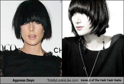 Agyness Deyn Totally Looks Like Karen O of The Yeah Yeah Yeahs