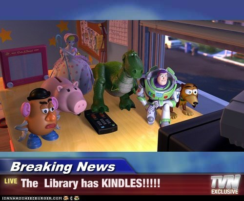 Breaking News - The  Library has KINDLES!!!!!