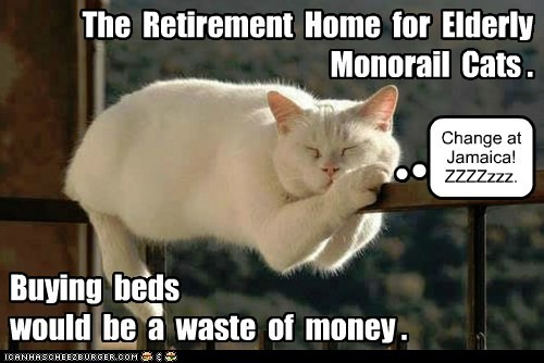 The  Retirement  Home  for  Elderly  Monorail  Cats .