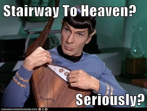 Music,Spock,stairway to heaven,seriously,Leonard Nimoy,Star Trek