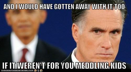 barack obama,Mitt Romney,scooby doo,meddling kids,villain