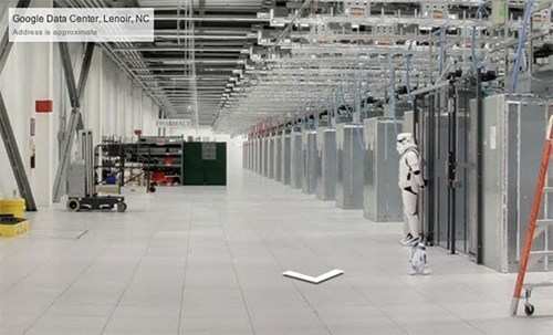 A Stormtrooper Stands Guard Over Google's Data Center