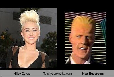 Miley Cyrus Totally Looks Like Max Headroom
