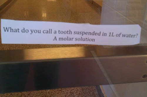 What do you call a tooth suspended in 1L of water?