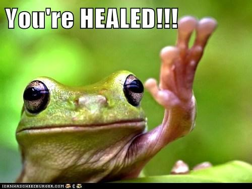 You're HEALED!!!