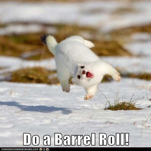weasel,Star Fox,stoat,do a barrel roll,jumping