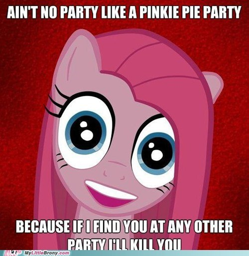 overly attached Pinkie Pie