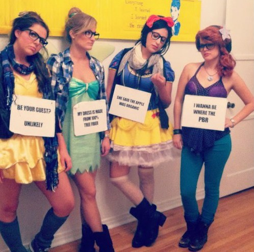 Hipster Disney Princesses IRL of the Day