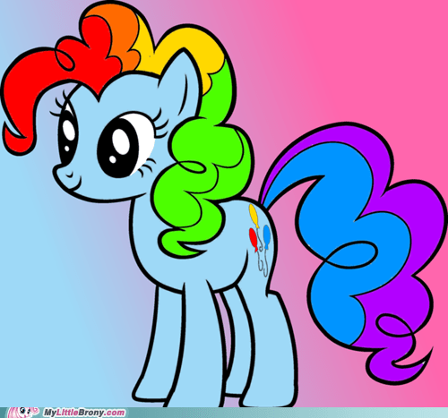 rainbow dash,crossover,pinkie pie,cute