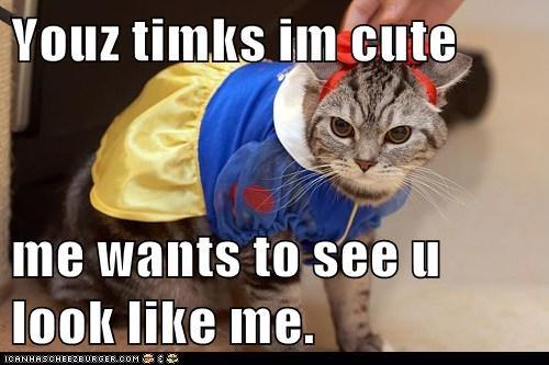 Youz timks im cute  me wants to see u look like me.