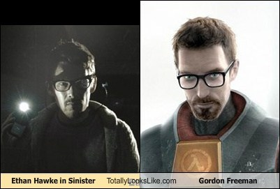 Ethan Hawke in Sinister Totally Looks Like Gordon Freeman