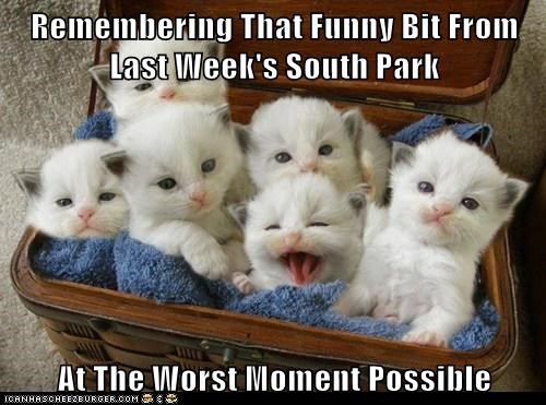 Remembering That Funny Bit From Last Week's South Park  At The Worst Moment Possible