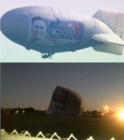 politics,election 2012,blimp,irony,Mitt Romney,best of week,Hall of Fame