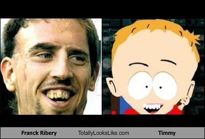 Franck Ribery Totally Looks Like Timmy from South Park